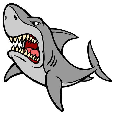 Shark Attack Иллюстрация