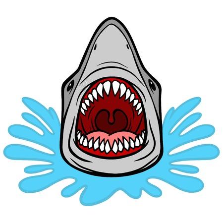 Shark Attack Bite Иллюстрация