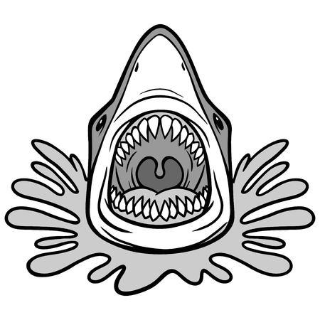 Shark Attack Bite Illustration
