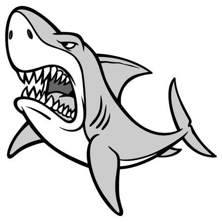 Shark Attack Illustration Иллюстрация