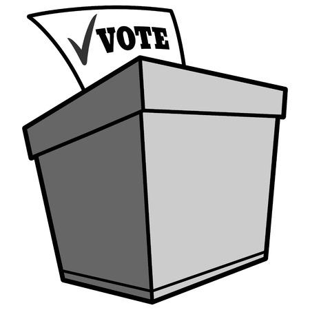 投票箱のイラスト 写真素材 - 69807860