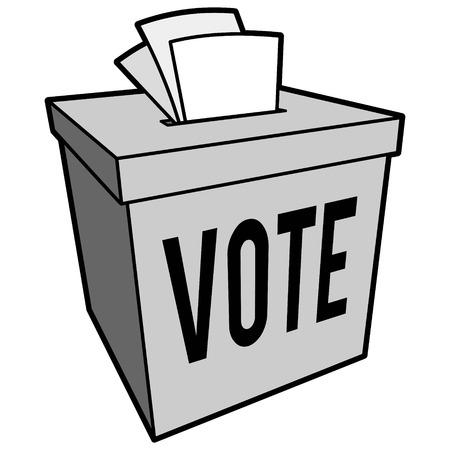 투표 상자 기호 그림 일러스트