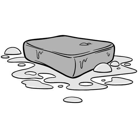 Bar of Soap Illustration Çizim