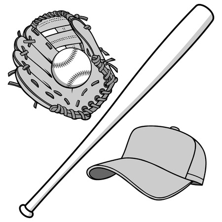 Baseball Equipment Illustration