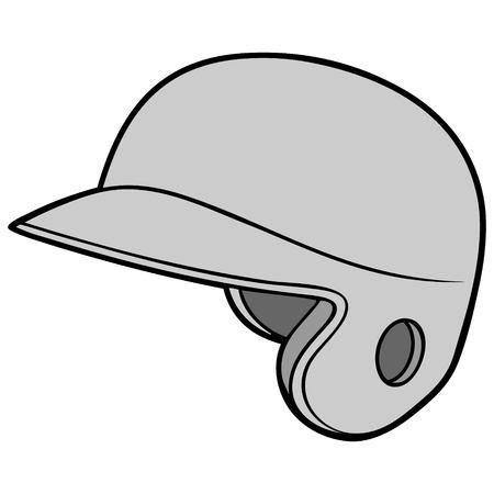 Baseball Helmet Illustration Illustration