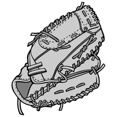 Baseball Player Glove Illustration  イラスト・ベクター素材