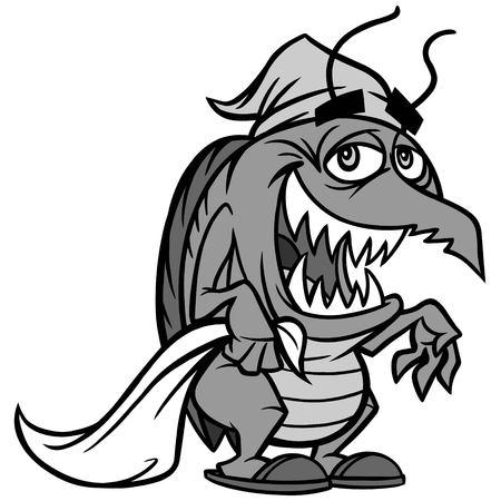 Illustrazione di bug letto