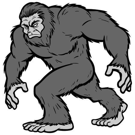Bigfoot Mascot Illustration Ilustrace