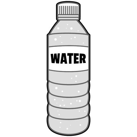 Bottle of Water Illustration