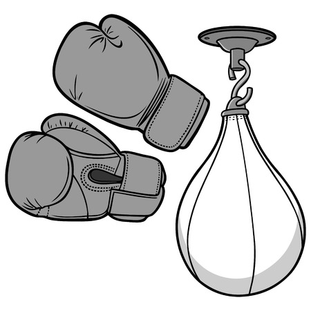 Boxing Equipment Illustration
