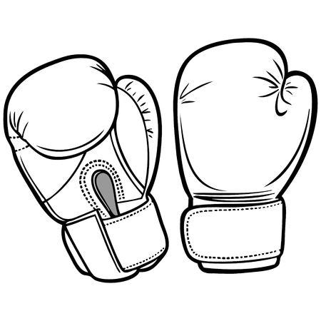 Guantes de boxeo de ilustraciones Foto de archivo - 71533234