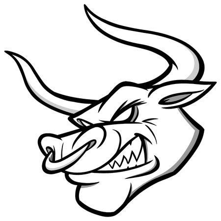 Bull Mascot Illustration Illustration