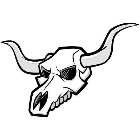 牛の頭蓋骨の図
