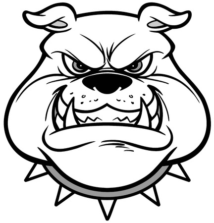 Bulldog Growl Illustration