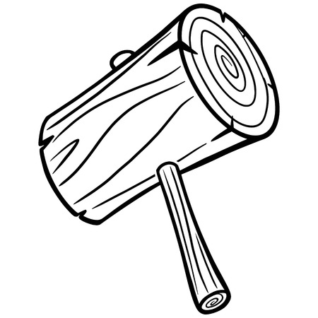 Cartoon Mallet Illustration 일러스트