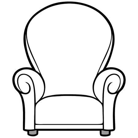 reclining: Chair Illustration.