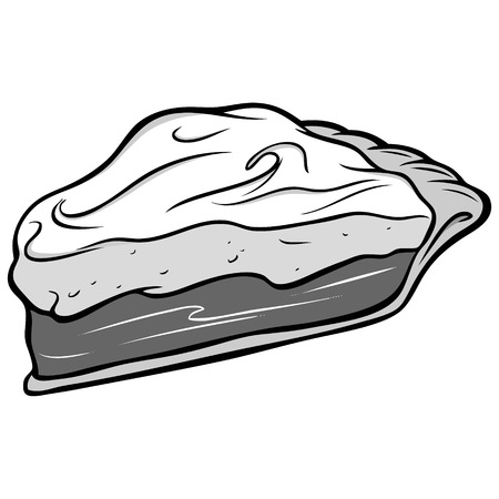 indulgence: Chocolate Pie Illustration. Illustration