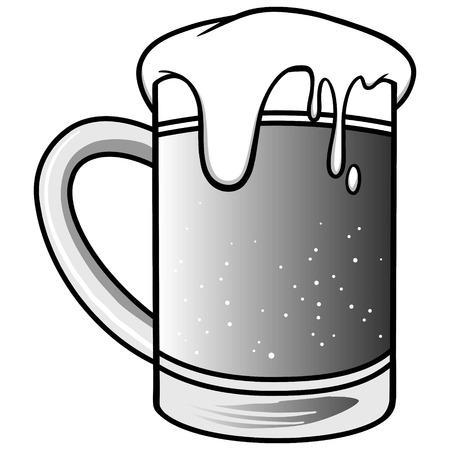 condensation: Mug of Beer Illustration.
