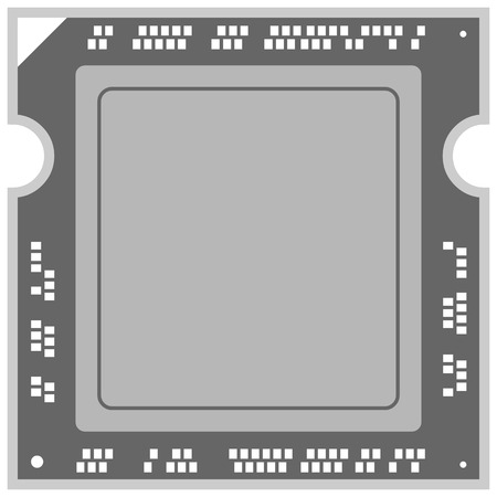 Computer Processor Illustration.