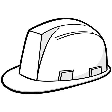 Illustrazione del cappello duro di costruzione. Archivio Fotografico - 71439816