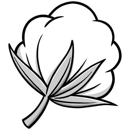 綿の図  イラスト・ベクター素材