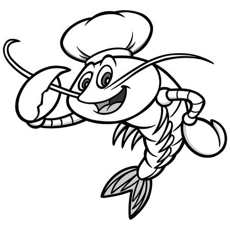 Crawfish Chef Mascot Illustration.