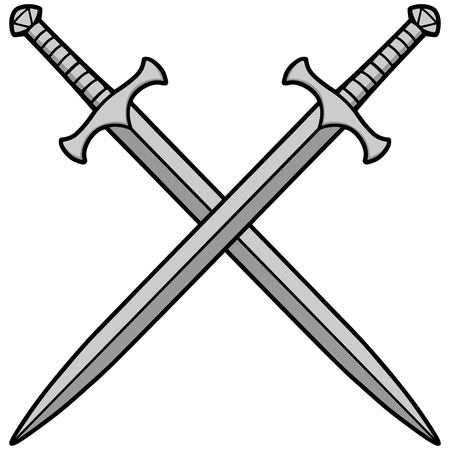 Crossed Swords Illustration. Illustration