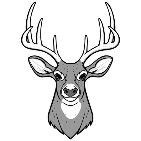 Herten hoofd illustratie.