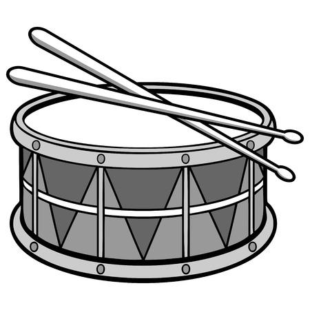 ドラムのイラストです。  イラスト・ベクター素材