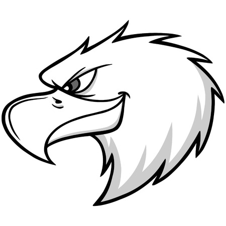 Eagle Mascot Head Illustration.
