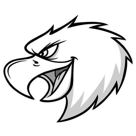 Eagle Mascot Scream Illustration.