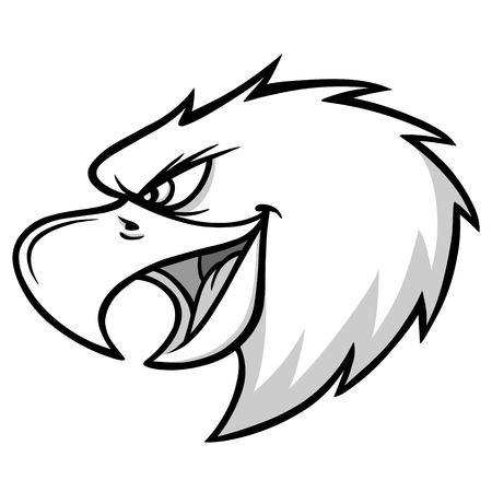 Eagle Mascot Scream Illustration.