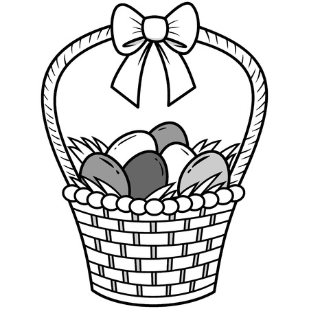 gift basket: Easter Basket Illustration Illustration