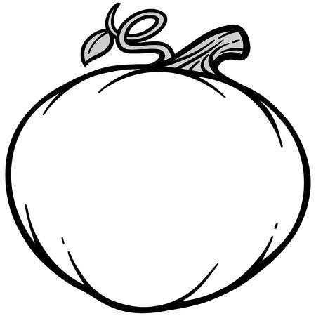 秋のかぼちゃのイラスト  イラスト・ベクター素材