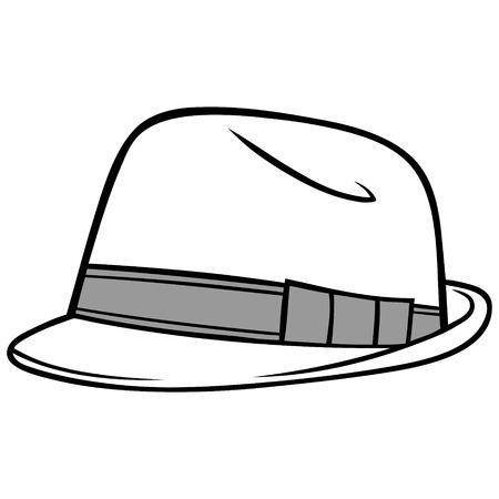 oldened: Fedora Hat Illustration