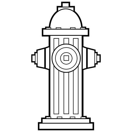 Ilustración de Boca de Incendio Ilustración de vector