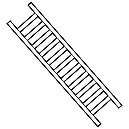 Firefighter Ladder Illustration