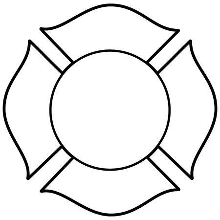 Firefighter Maltese Cross Illustration