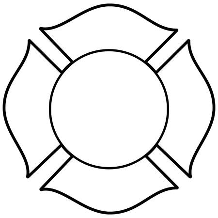 Strażak Krzyż Maltański Ilustracja