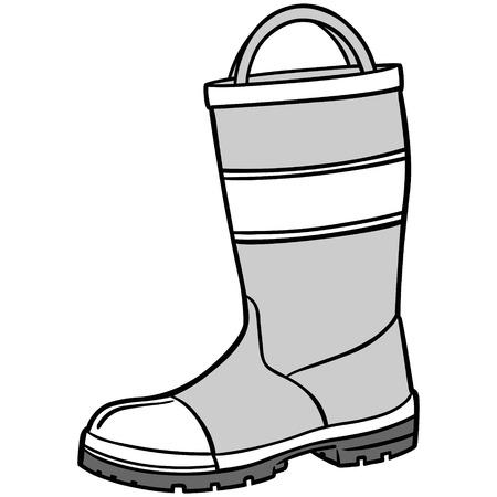 safty: Fireman Boot Illustration