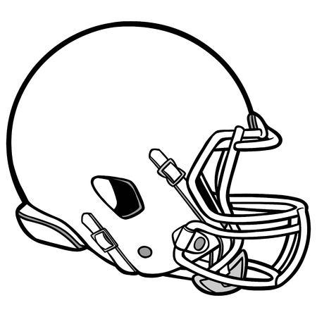 Ilustración del casco de fútbol americano Ilustración de vector