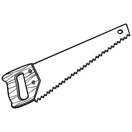 Hand Saw Illustration
