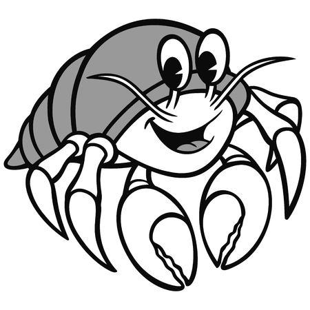 Hermit Crab Illustration Illustration
