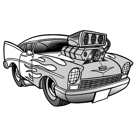 Hot rod illustration.