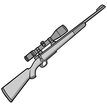Hunting Rifle Illustration