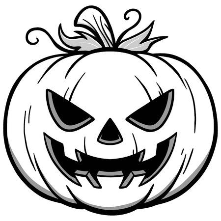 Jack-O-Lantern Illustration Illustration