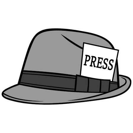 Journalist hat illustration. Illustration