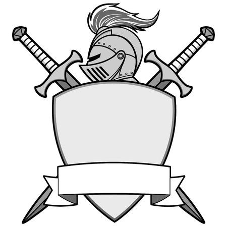 Knight emblem illustration. Stock fotó - 71730207