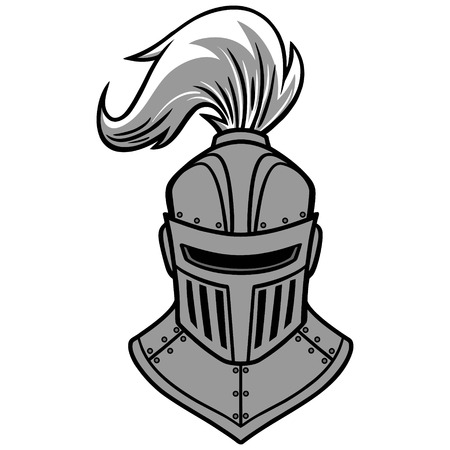 Knight front view illustration.