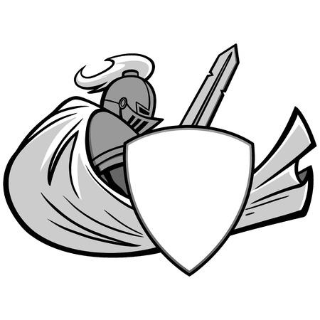 Knight graphic illustration.